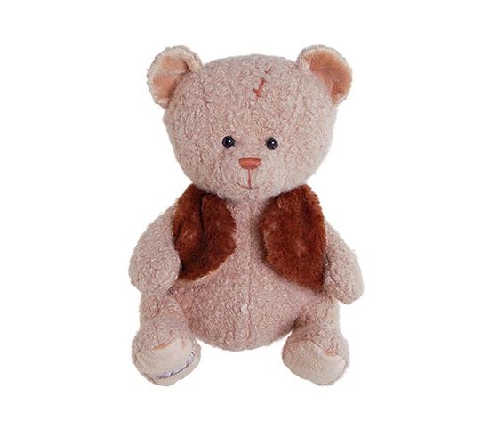 Peluche great leopold orsetto con pellicciotto marrone