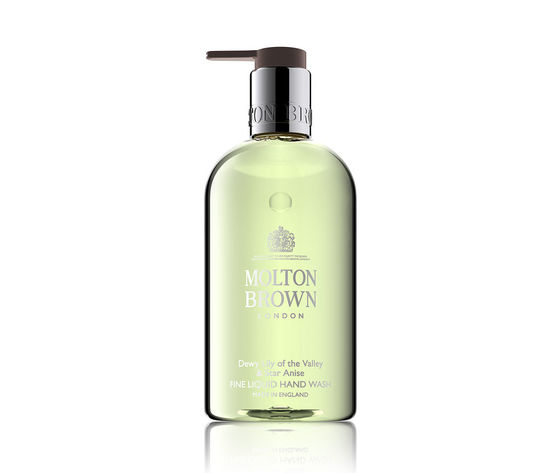 3967 molton brown dewy lily of the valley star anise fine liquid hand wash 300 ml 2973 molton brown dewy lily of the valley fine liquid h