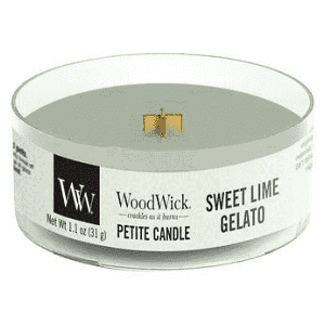 "Woodwick Candela Petite""Sweet Lime Gelato"" 31g"