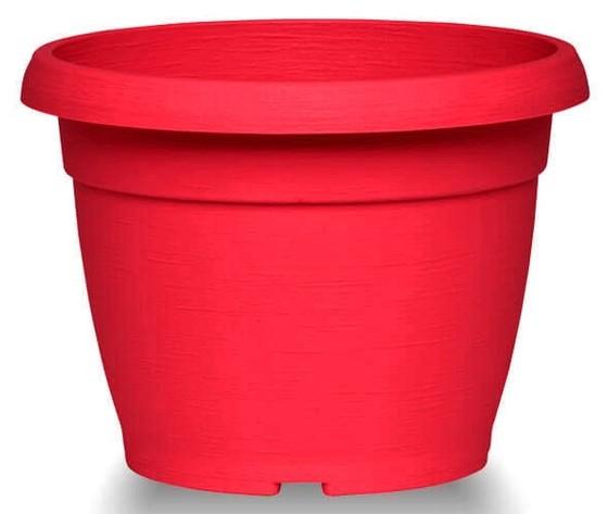 Vaso similcotto spazzolato rosso