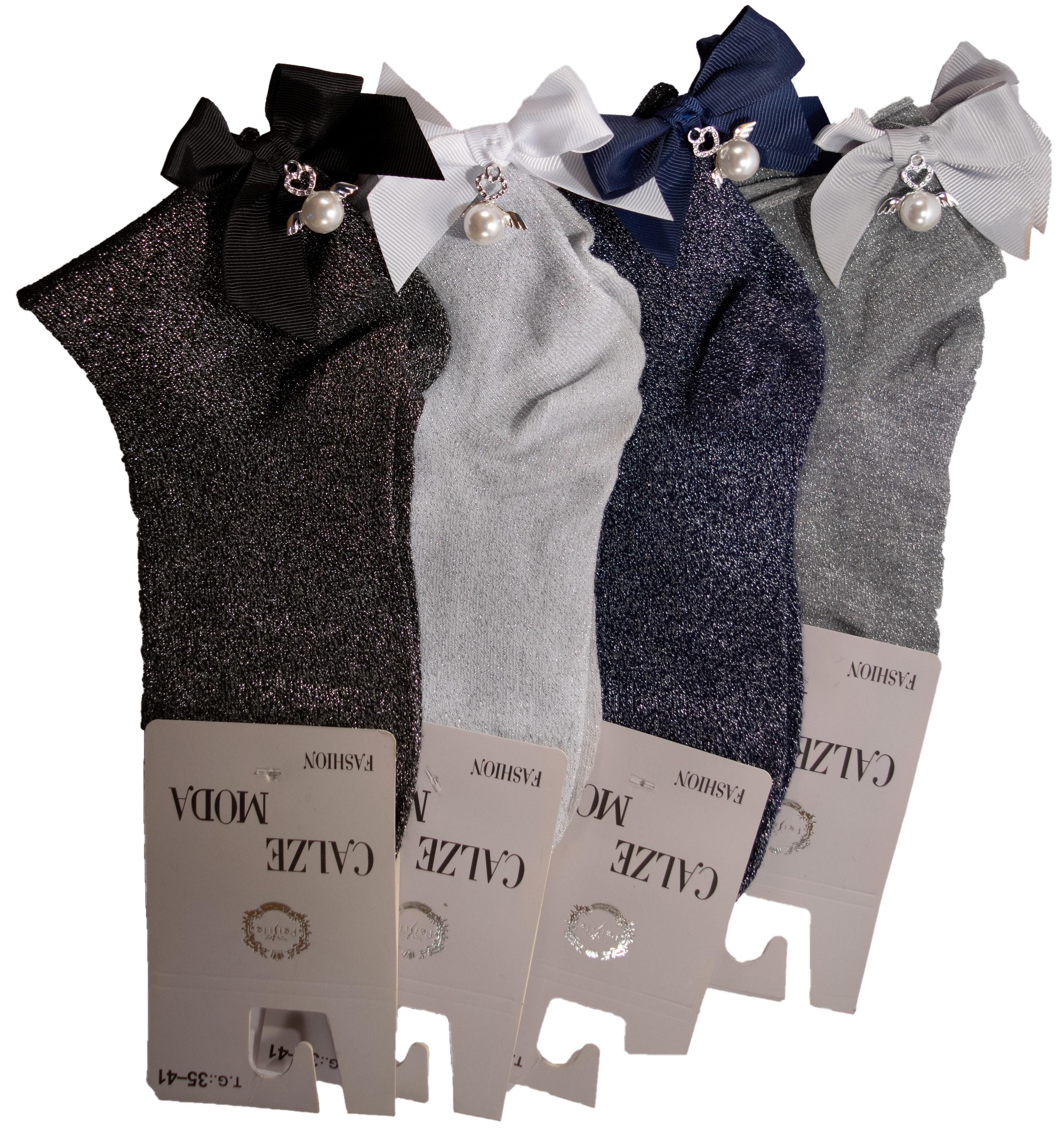 best service 5f673 3f6b2 Calzini lamel con fiocco e ali moda donna look calzino outfit accessorio