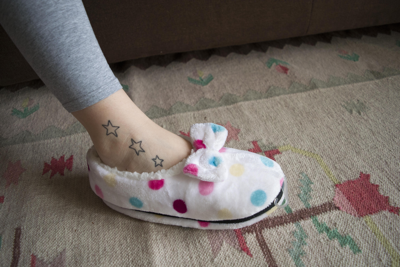the best attitude 7550e bc3a0 babbucce donna morbide stivaletto pantofole casa scarpette scarpe comode  calde pois