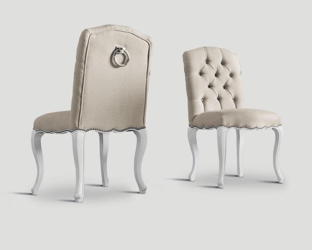 Sedie Imbottite Capitonnè : Sedia in legno imbottita charm life