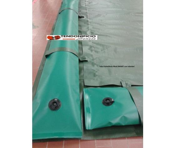 Telo di copertura invernale per piscina completo di tubolari perimetrali Mod. SMART