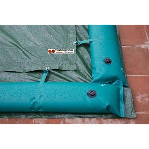 Telo di copertura invernale per piscina completo di tubolari perimetrali Mod.CLASSIC
