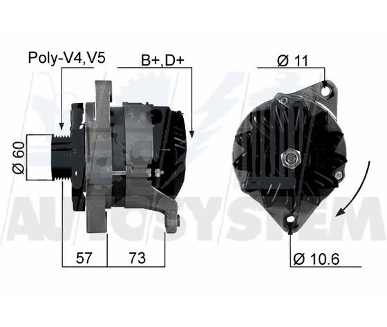 Alternatore Fiat Tipo / Tempra 65AH REVISIONATO