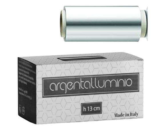 ARGENTALLUMINIO CARTA STAGNOLA ARGENTO 13 cm-  400gr CON ASTUCCIO