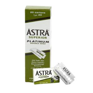 BOX LAMETTE DA BARBA ASTRA SUPERIOR PLATINUM (100 LAMETTE)