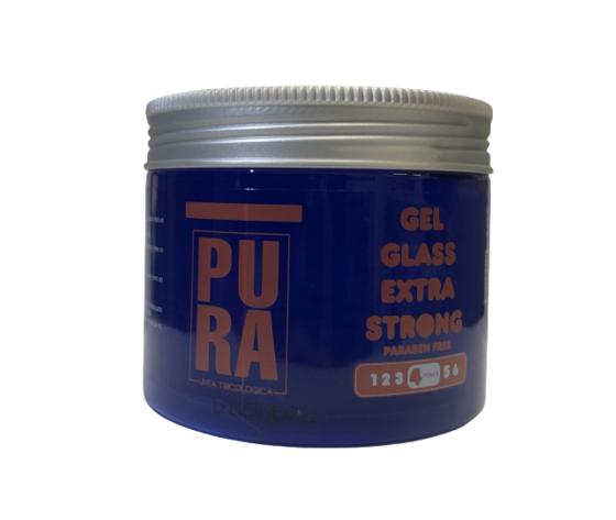 PURA GEL GLASS EXTRA STRONG PER CAPELLI - 500ML