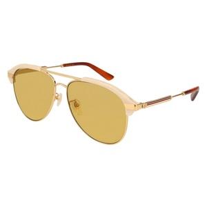 Occhiale da sole Gucci GG0288SA 004-beige-gold-brown 60