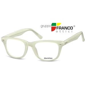 Occhiale da vista Alex & Ross CP173 colore F Milky Bianco  50/21