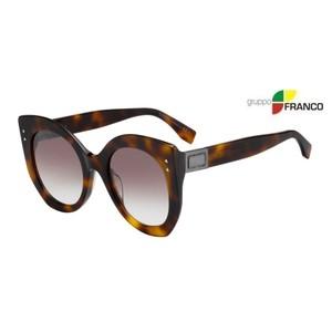 MONTATURA DA SOLE FENDI FF0265S 086NQ TORTOISE BROWN SHADED 52