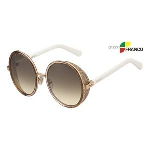 Occhiale da sole Jimmy Choo Andie n/s 1KHCC GOLD WHITE BROWN SHADED 54