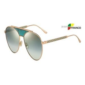 OCCHIALE DA SOLE JIMMY CHOO AVE/S PEFEZ GOLD GREEN MIRROR 58