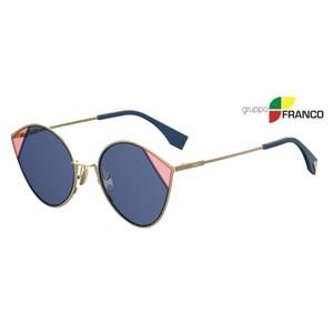 MONTATURA DA SOLE FENDI FF 0341S LJSKU BRONZE PINK BLUE 60