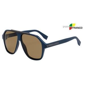 MONTATURA DA SOLE FENDI FF M0027GS ZI970 BLUE BROWN 59