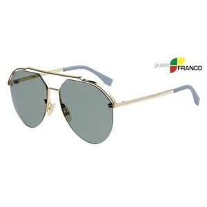 MONTATURA DA SOLE FENDI FF M0031S J5GO7 GOLD GREEN 61