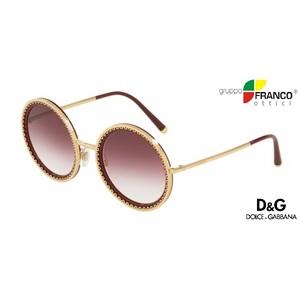 Occhiale da Sole Dolce & Gabbana DG2211 colore 12988G GOLD/BORDEAUX 53/24
