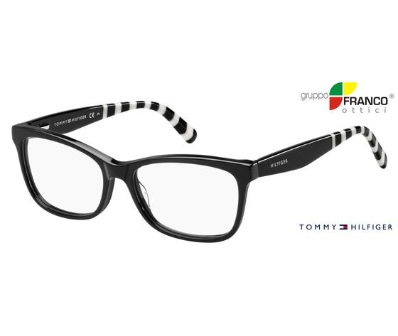 in vendita 3afe9 e2d93 Occhiale da vista Tommy Hilfiger TH 1483 Colore 807 BLACK 53/16