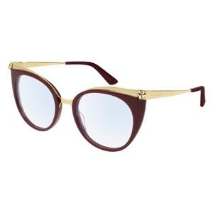 Occhiale da vista Cartier CT0123O Colore 004-burgundy-gold-transpa 52
