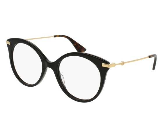 l'ultimo c76b8 8f36c Montatura da vista Gucci GG0109O 001-black-gold-transparente 50/19