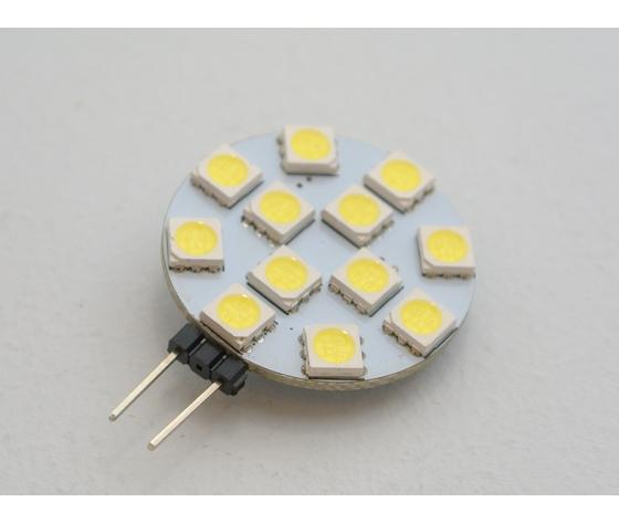 LED GETTONE G4 2,4W - LAMPADINA  LED GETTONE  ATTACCO G4 (BISPINA) 2,4W = 25W LUCE FREDDA 6000K 250lm