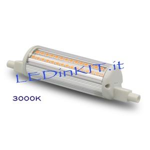 LED LINEARE R7S - 14W - 3000K - LAMPADA LED LINEARE  ATTACCO R7S - 14W = 150W CIRCA LUCE CALDA 1400lm