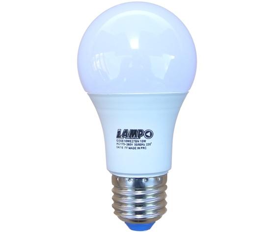 LED BULBO E27 10W - LAMPADINA LED BULBO ATTACCO E27 (GRANDE) 10W = 70W LUCE CALDA 3000K 806lm