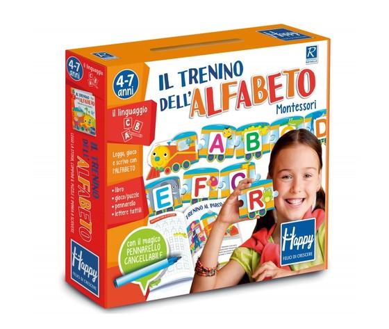 Il trenino dell'alfabeto Montessori