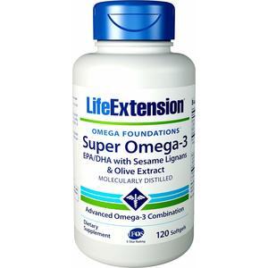 SUPER OMEGA-3 EPA/DHA WITH SESAME LIGNANS  and Olive Extract  Per supportare il sistema cardiovascolare, trigliceridi/ colesterolo, la salute cognitiva e l'infiammazione