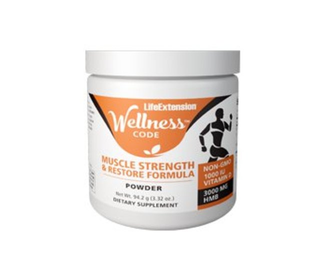 WELLNESS CODE™ MUSCLE STRENGTH AND RESTORE FORMULA con HMB e Vit.D   Per aiutare a mantenere la funzione muscolare e sostenere la crescita muscolare