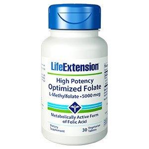High Potency OPTIMIZED FOLATE (L-METHYLFOLATE)  Supporto per la gestione dell'omocisteina, la salute cardiovascolare e cerebrale