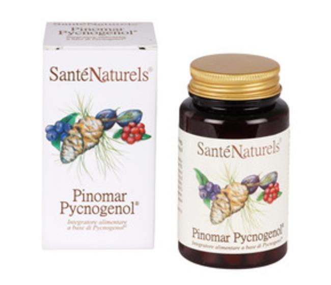 Pinomar Pycnogenol - Picnogenolo  con estratti di Pino Marittimo Francese, Mirtillo, Acini d'uva, antiossidanti per la circolazione venosa ed arteriosa