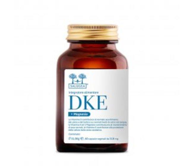 DKE + Magnesio - Integratore di Vitamina D3, K2, E,   Per rinforzare ossa e denti, sostenere le difese immunitarie, contrastare l'invecchiamento