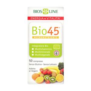 Bio 45 - Compresse  Multivitaminico , multiminerale, multivegetale BIO