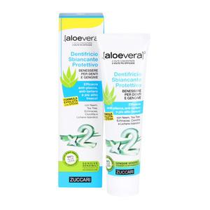 Aloevera2 - Dentifricio Sbiancante Protettivo con Stevia Benessere per denti e gengive sensibili e tendenti a infiammazioni
