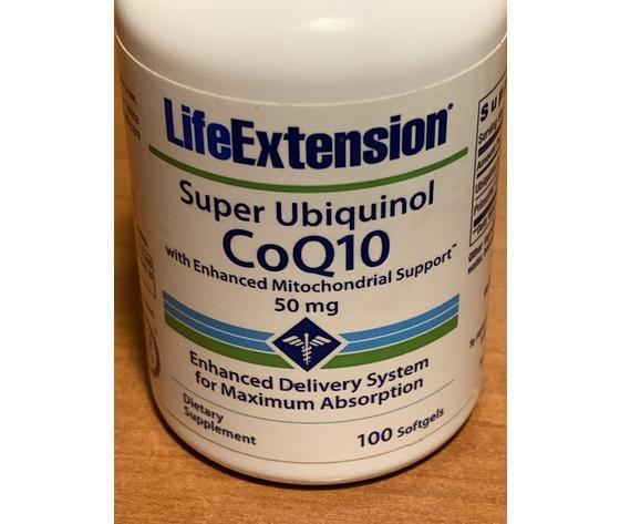 SUPER UBIQUINOL COQ10 WITH ENHANCED MITOCHONDRIAL SUPPORT 50mg  Per favorire la produzione di energia cellulare CUORE CERVELLO RENI