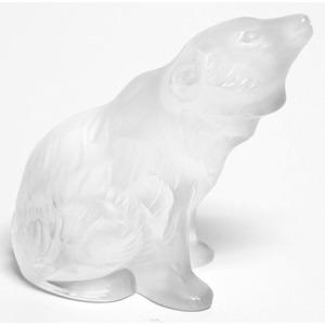 Lalique Scultura Orso Seduto