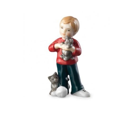 Royal Copenhagen Bimbo in piedi con gattino