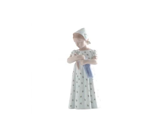 Royal Copenhagen Statuina Mary con vestito bianco