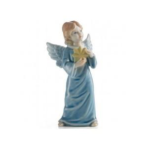 Royal Copenhagen Statuina Angelo Custode Azzurro