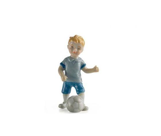 Royal Copenhagen Statuina bimbo che gioca a calcio