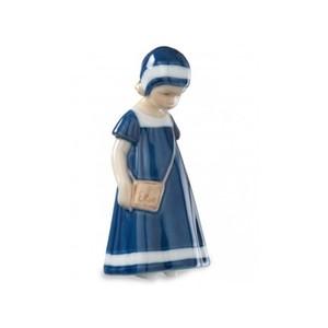 Royal Copenhagen Statuina Elsa con Vestito Blu