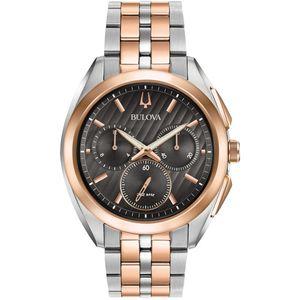 orologio bulova curv cronografo bicoloro acciaio oro