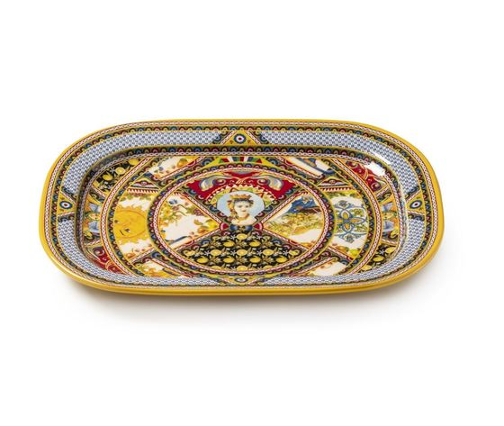 Lamart Palais Royal Boutique Vassoio / Piatto da Portata 44 x 32 cm Decoro Santa Rosalia