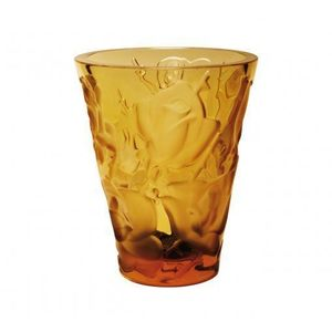 Lalique Ispahan Vase Amber Crystal