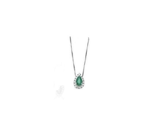Bibigì Collana con Smeraldo e Diamanti