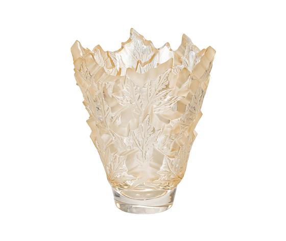 Lalique Champs-Élysées Small Vase Gold Luster Crystal