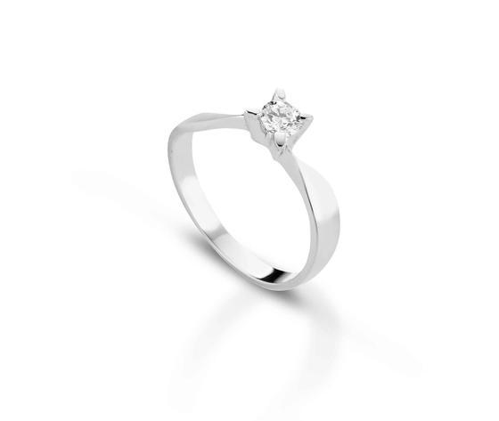 Crusado Anello Solitario con Diamante