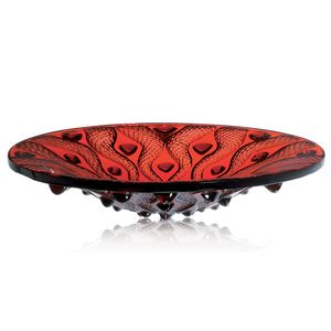 red serpetine bowl lalique rene